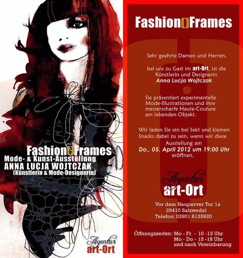 Fashion Frames Mode-Illustrationen von Anna Lucja Wojtczak